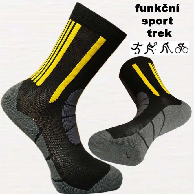 Žluté funkční sportovní ponožky antibakteriální Assante 72002 velikost 26-28