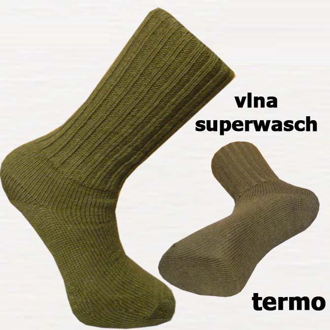 Zelené rybářské termo ponožky Assante 72202 velikost 29-31