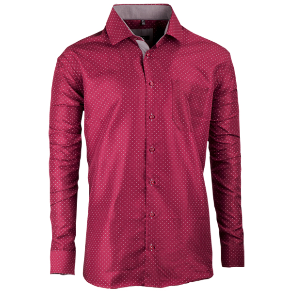 Bordó nadměrná pánská košile rovná Native 31037