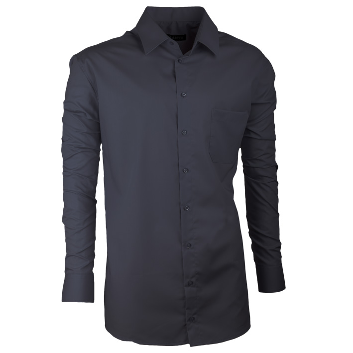 Pánská košile dlouhý rukáv prodloužená šedá 100% bavlna Assante 20101 velikost 37/38 (S)