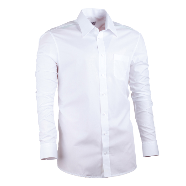 Bílá nadměrná pánská košile rovná Assante 31011 velikost 47/48 (3XL)