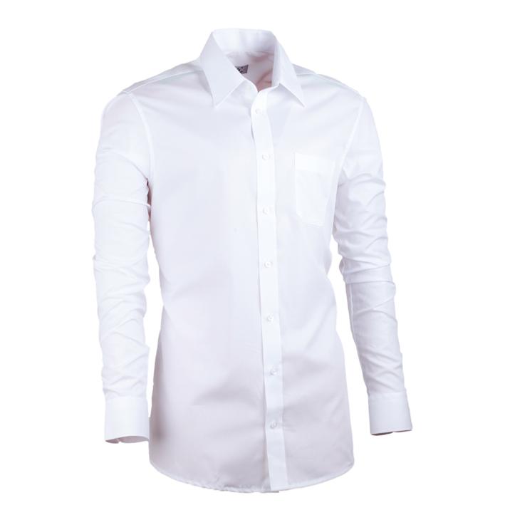 Pánská košile prodloužená bílá slim 100 % bavlna Assante 20003 velikost 37/38 (S)