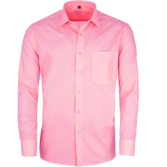 Růžová pánská košile prodloužená Friends and Rebels 20302 velikost 39/40 (M)