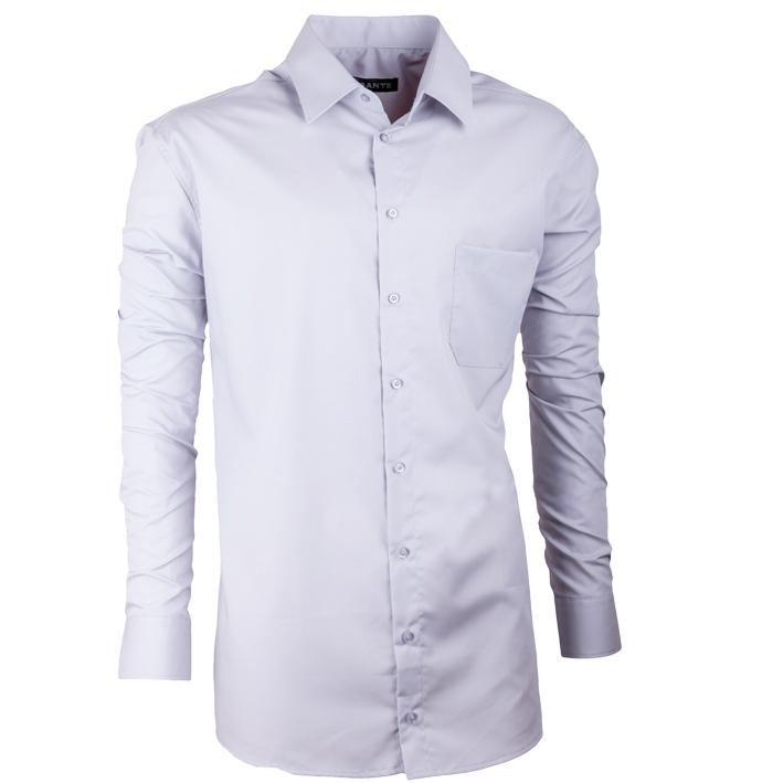 Pánská nadměrná košile v barvě holubí šedi Assante 31023