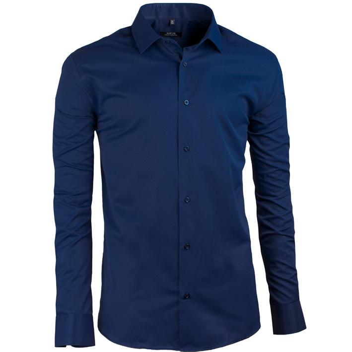 Prodloužená pánská košile modrá Assante 20607 velikost 37/38 (S)