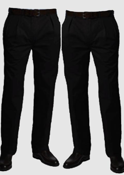 Černé zkácené pánské společenské kalhoty na výšku 170 – 176 cm Falkom 160100