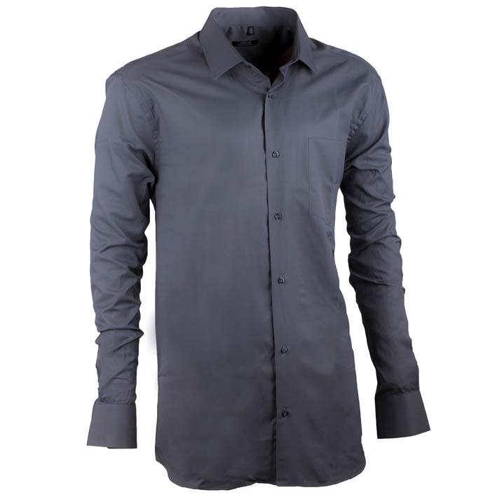 Šedá pánská košile s dlouhým rukávem rovná Native 30155 velikost 45/46 (XXL)