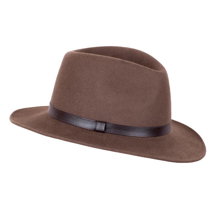 Hnědý luxusní dámský klobouk Mes 87012