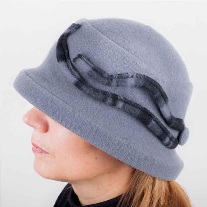 Šedý elegantní dámský klobouk Tonak 87110