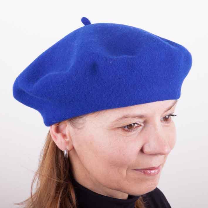Modrý baret elegantní Tonak 87261 velikost Uni