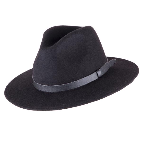 Černý pánský klobouk Assante 85003