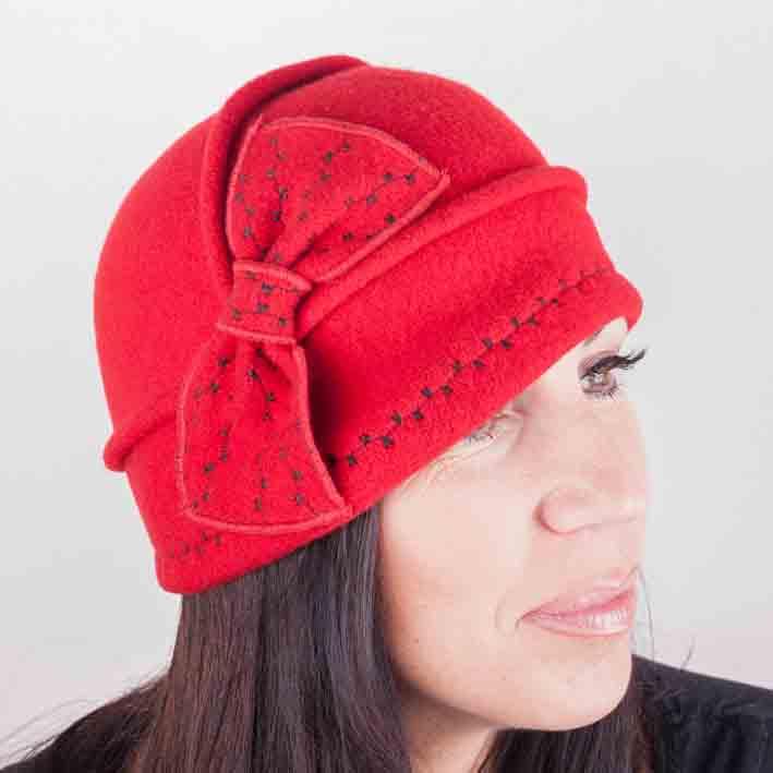 Červený klobouk dámský Tonak 87112 velikost Uni