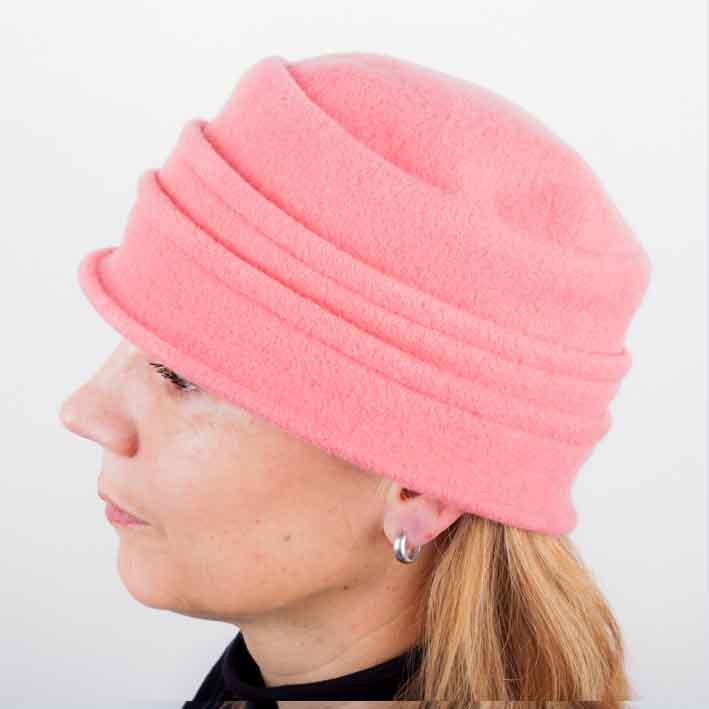 Korálový elegantní dámský klobouk Tonak 87114 velikost Uni