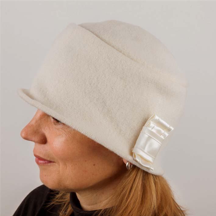 Smetanový dámský klobouk z čisté vlny Tonak 87119 velikost Uni