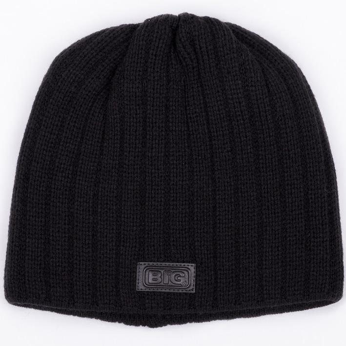 Černá pánská pletená čepice BIG 86022
