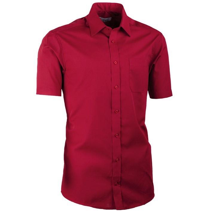 Nadměrná košile bordó 100 % bavlna non iron Assante 41035 velikost 47/48 (3XL)