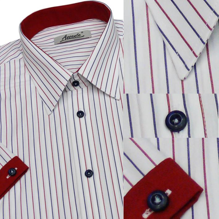 Bílá pánská košile slim fit 100 % bavlna non iron Assante 40609