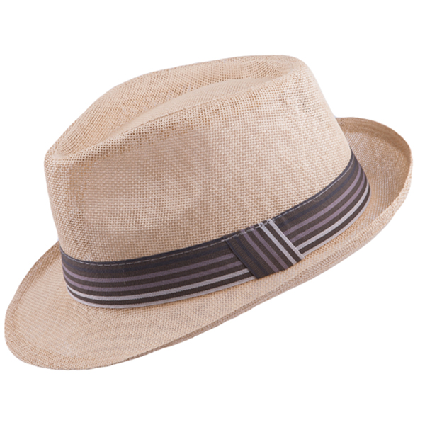 Béžový pánský slaměný klobouk Mes 80004