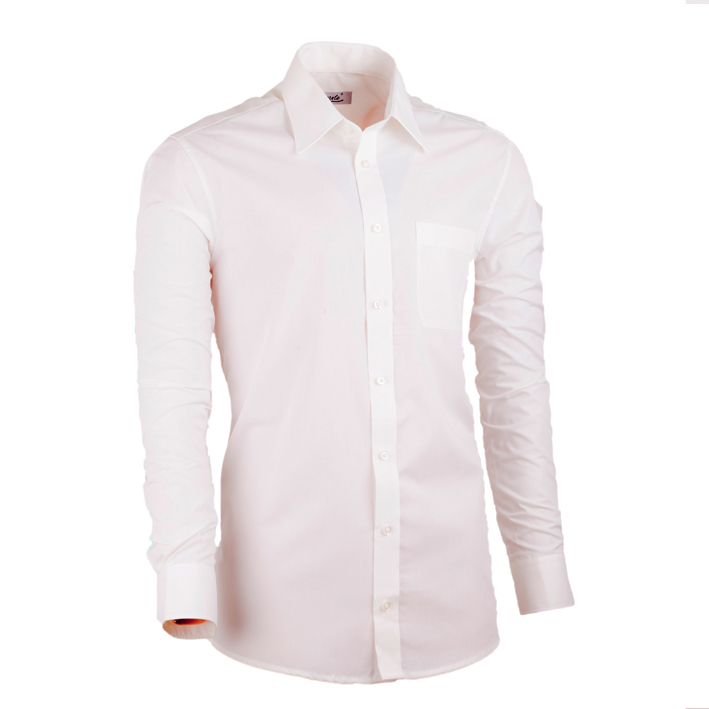 Pánská košile šampaň prodloužená slim fit non iron Assante 20208