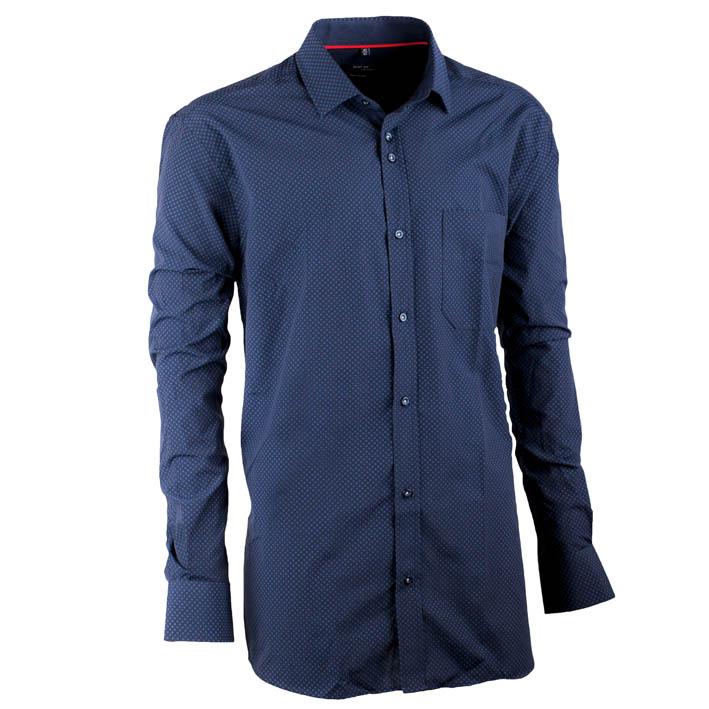 Modrá pánská košile s dlouhým rukávem rovná Native 30642