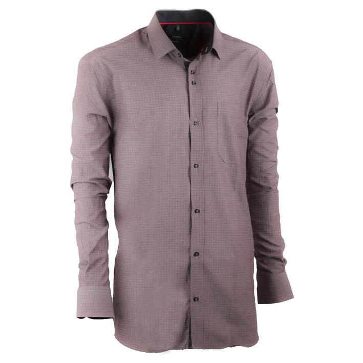 Šedá pánská košile s dlouhým rukávem rovná Native 30640