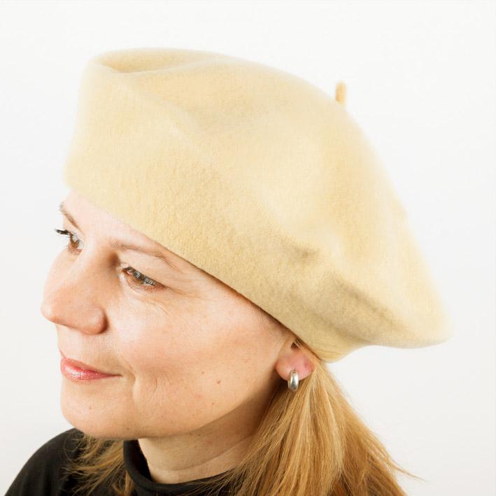 Pšeničně žlutý baret dámský elegantní Tonak 87251