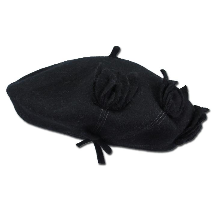 Černý dámský baret elegantní Tonak 87213
