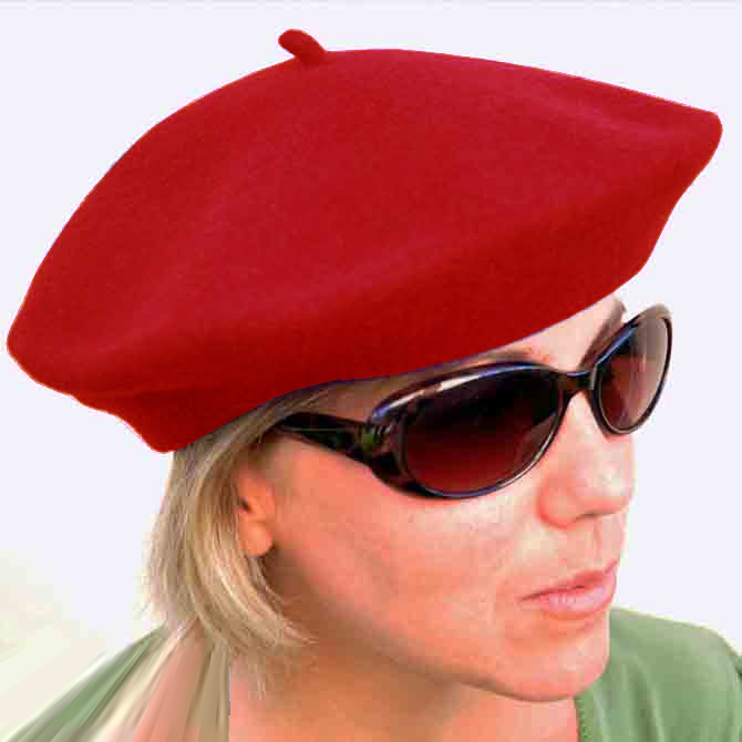 Červený baret elegantní Tonak 87255