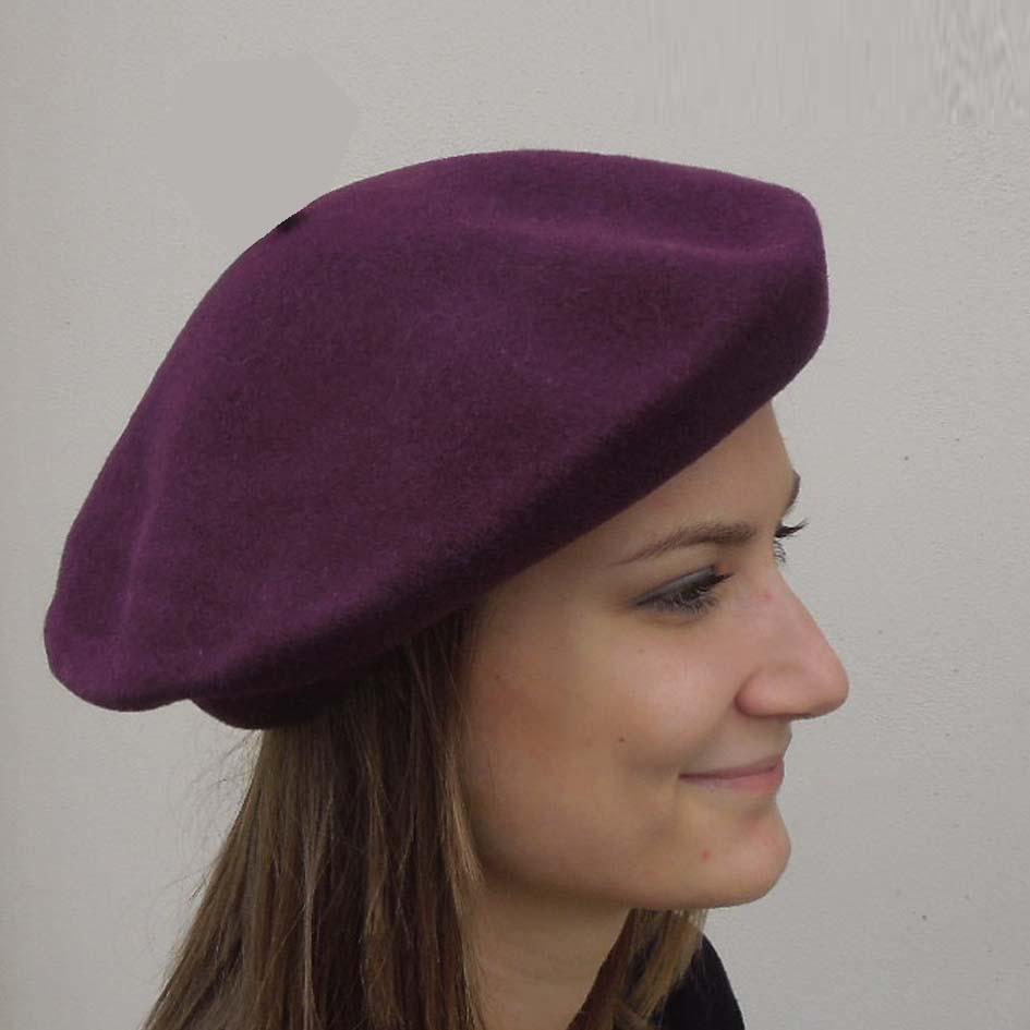 Purpurový baret dámský Tonak 87214