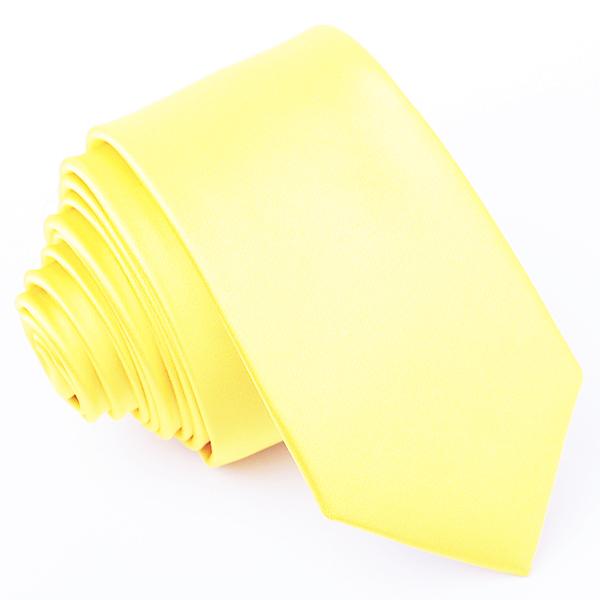 Citrónová kravata jednobarevná Greg 99946