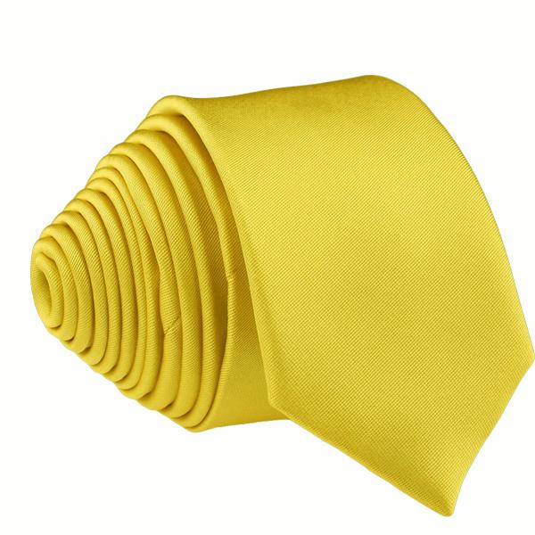 Žlutá kravata jednobarevná Rene Chagal 99980