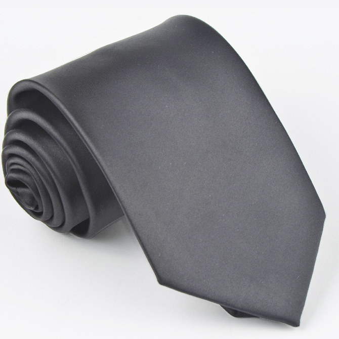 Pánská šedá jednobarevná kravata Greg 99926