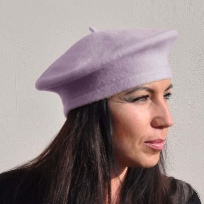 Hyacintový baret elegantní Tonak 87215