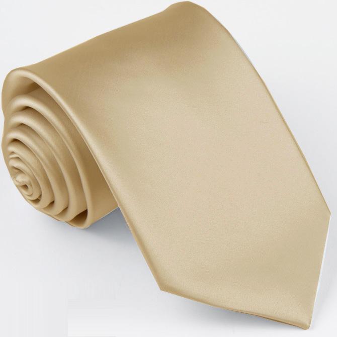 Světle hnědá kravata jednobarevná Greg 99922