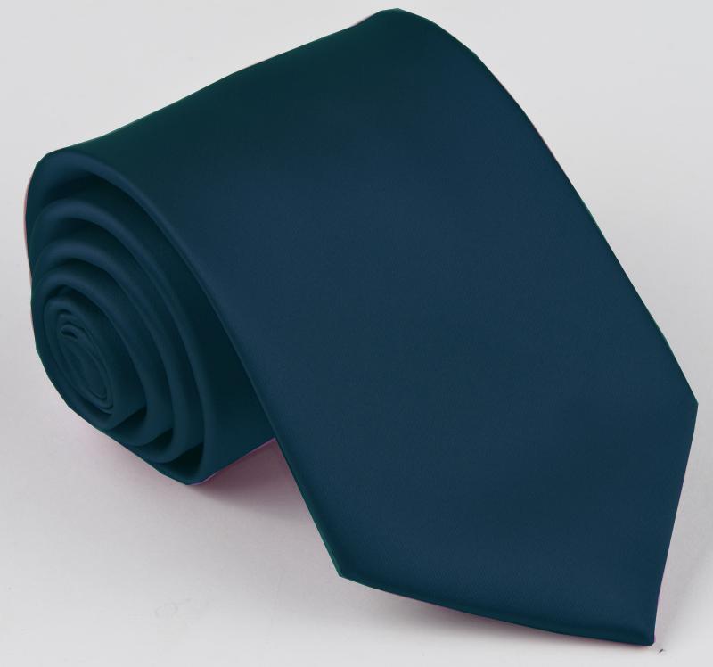 Jednobarevná modrá pánská petrolejová kravata Rene Chagal 99989
