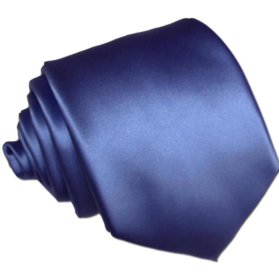 Pánská modrá jednobarevná kravata Greg 99982