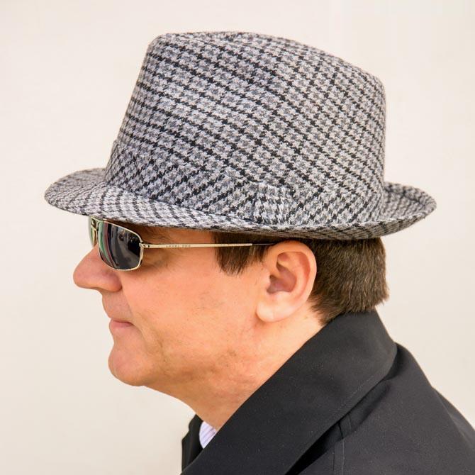 Šedý pánský klobouk Anytra 85053