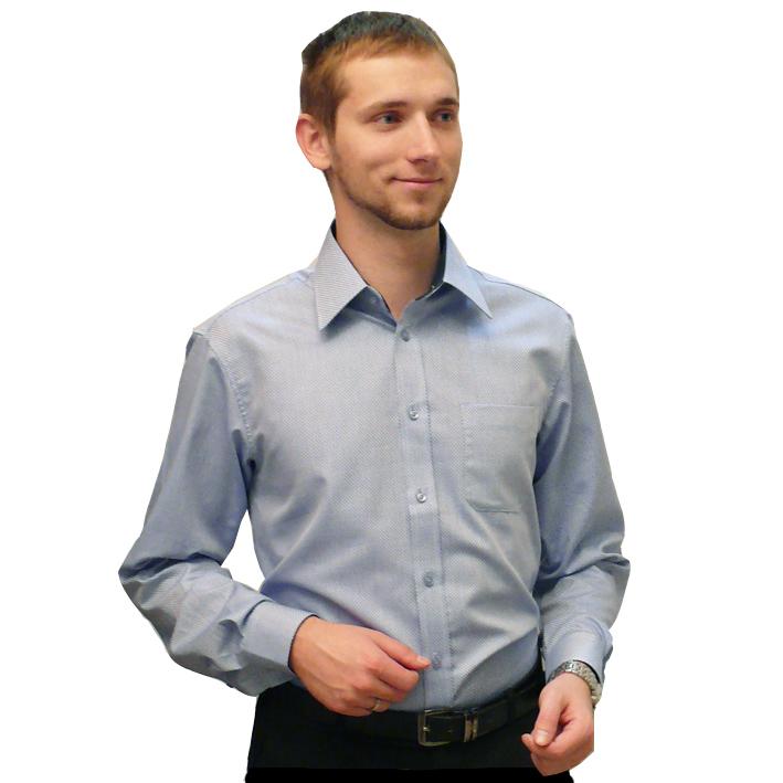 Modrá pánská košile s dlouhým rukávem slim fit Assante 30412
