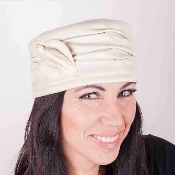 Smetanový klobouk dámský Mes 87154