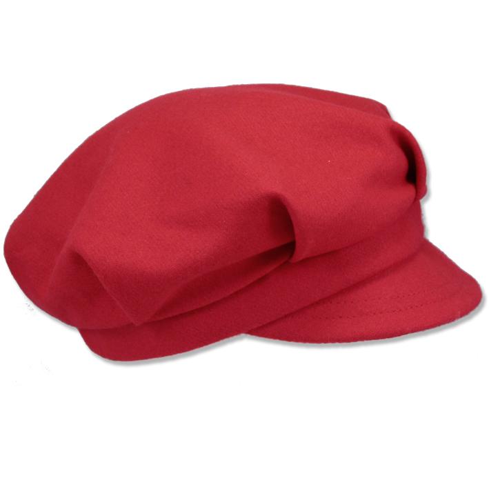 Červená čepice dámská Mes 87157