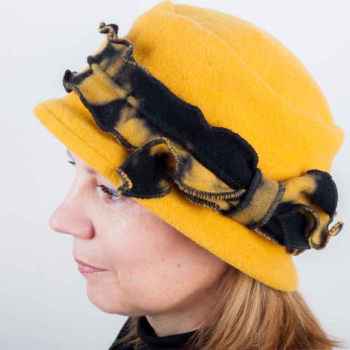 Žlutý dámský módní klobouk Tonak 87105