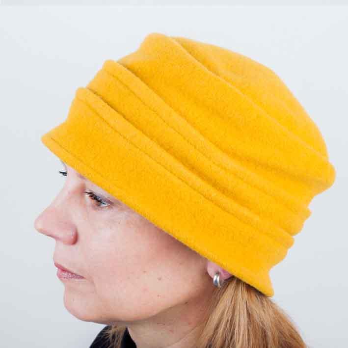 Žlutý elegantní dámský klobouk Tonak 87106