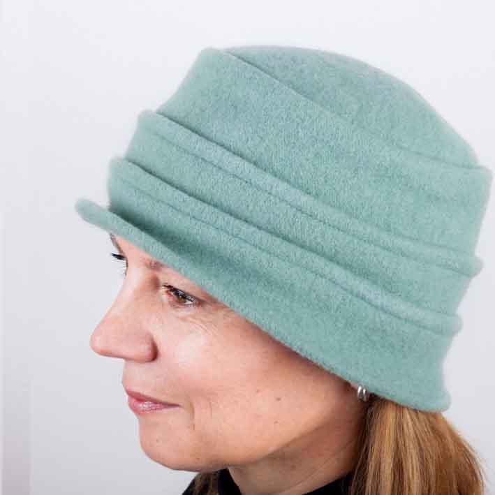 Zelený dámský klobouk z čisté vlny Tonak 87107