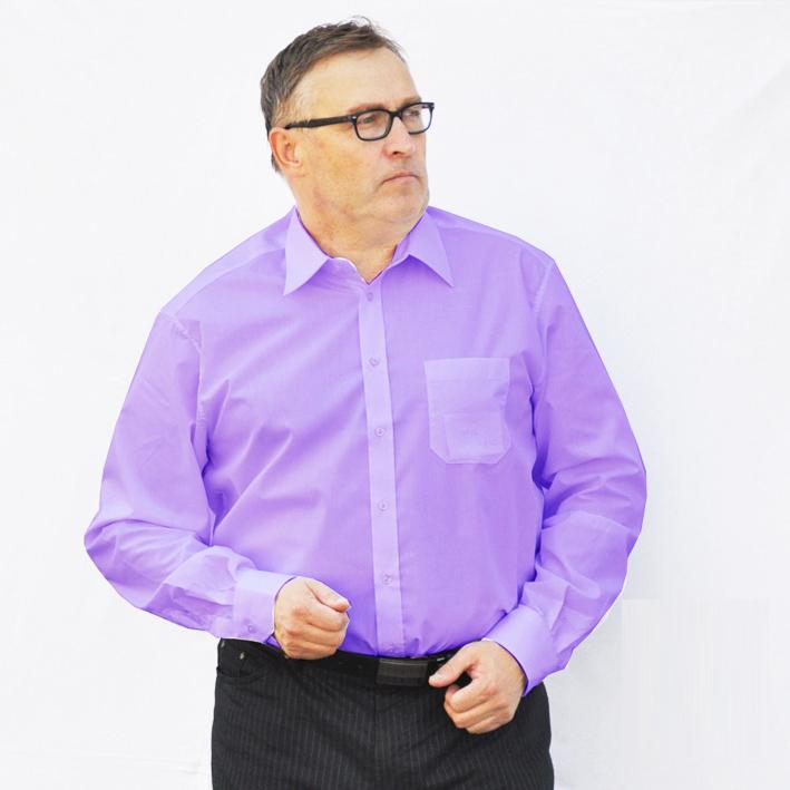 Pánská košile fialová prodloužená Assante 20306