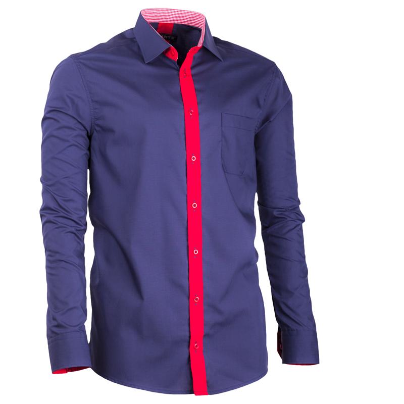 Modrá nadměrná pánská košile rovná Assante 31077