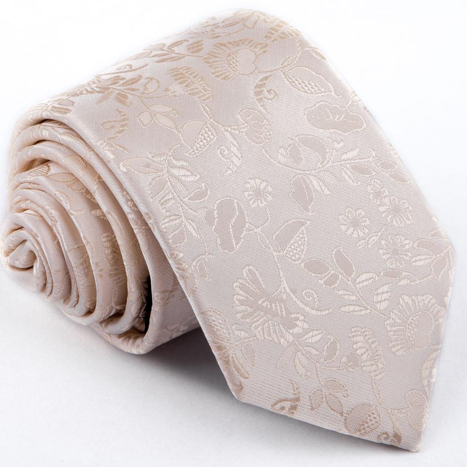 Svatební béžová kravata Greg 92804