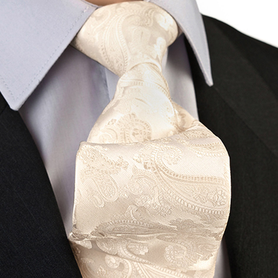 Svatební kravata smetanová  Greg 92821