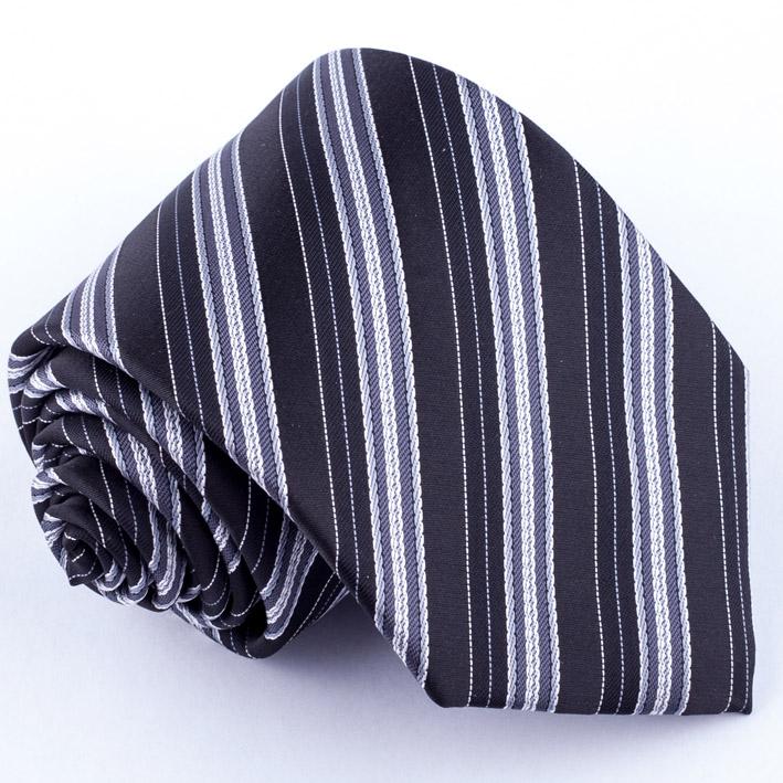 Černá kravata klasická společenská Rene Chagal 91032