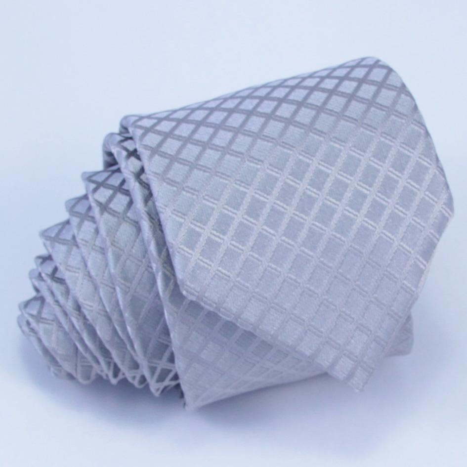 Svatební šedá kravata Rene Chagal 91042