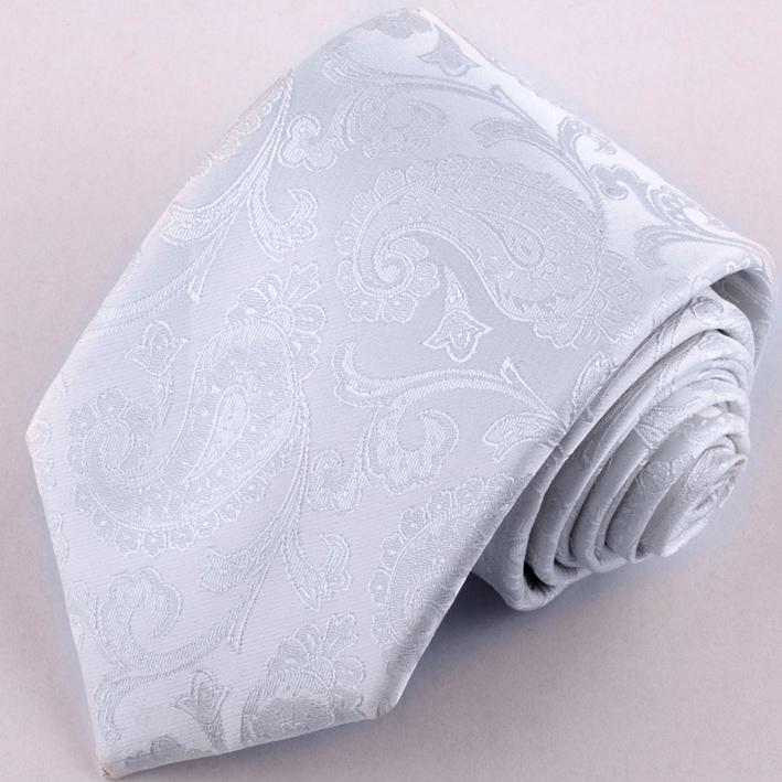 Stříbrná svatební kravata Greg 91063